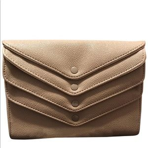 Tan Envelope Clutch